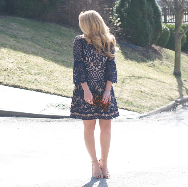 Navy Lace Dress for Easter