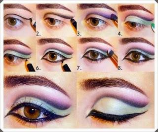 Çeşitli Göz Makyajı Yapım Örnekleri 6