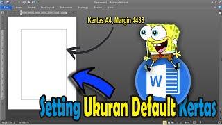 setting ukuran default kertas di word 2010