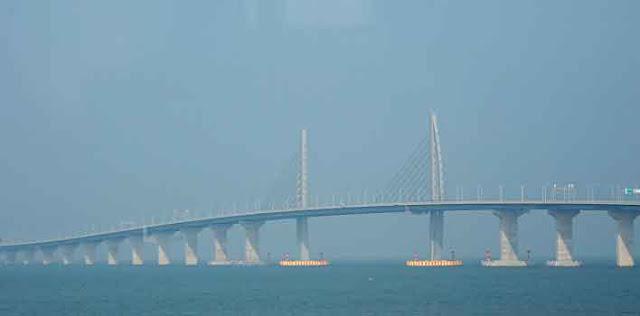 चीन और हांगकांग के बीच दुनिया का सबसे लंबा पुल