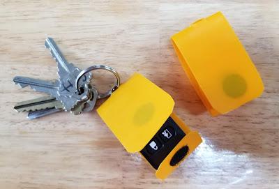 Simple homemade key fob cover