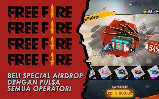 cara beli Special Airdrop Free Fire dengan pulsa