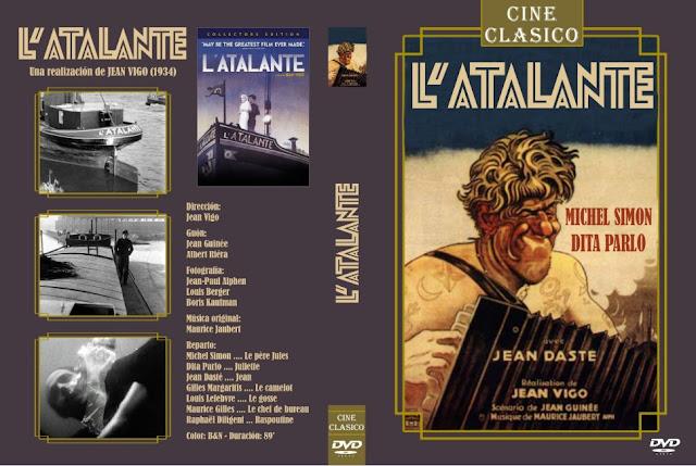 Carátula dvd: L'atalante (1934) Jean Vigo - Cine Clasico - Descargar y Online