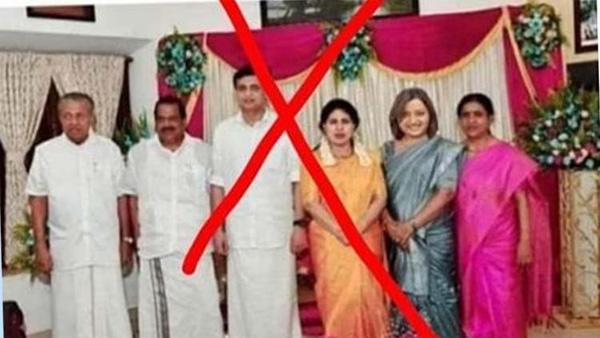 Complaint against Bindu Krishna to morphing Pinarayi's daughter's marriage photos,Kollam, News, Politics, Marriage, Congress, DYFI, Complaint, Police, Kerala