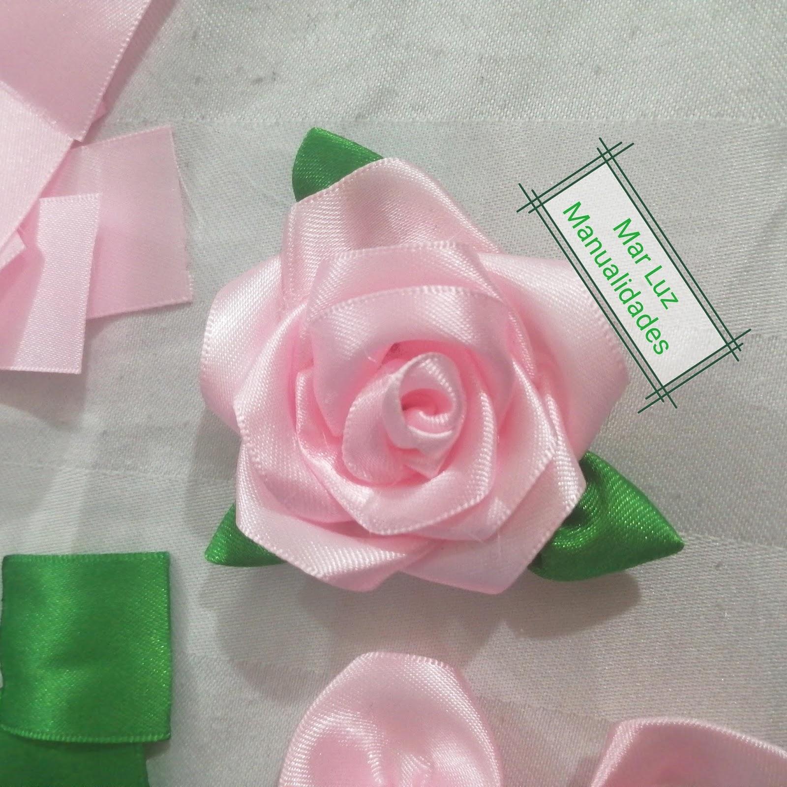 como hacer flores en cinta