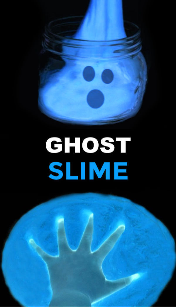 Ghost crafts and activities including how to make ghost slime.  The recipe is easy and kids of all ages are sure to love this fun bit of science. #ghostslime #ghostslimerecipe #halloweenslime #halloweenslimeforkids #slimerecipe #slimerecipeeasy #halloweencrafts #ghostcraftsforkids #growingajeweledrose #activitiesforkids