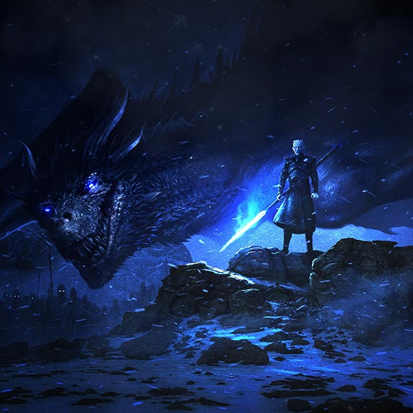 The Night King and His Dragon Wallpaper Engine