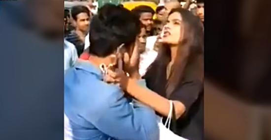 Menina agarra abusador pelo colarinho e chama a polícia