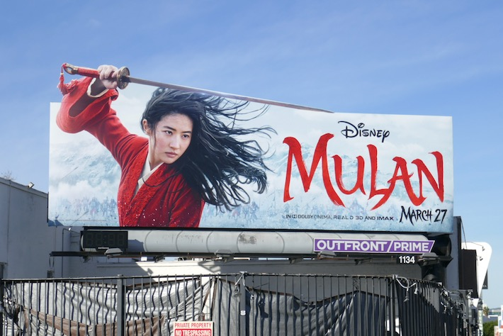 Mulan movie billboard