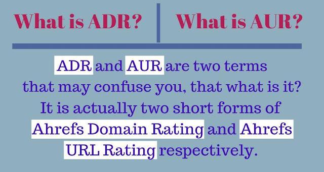 ADR and AUR in SEO