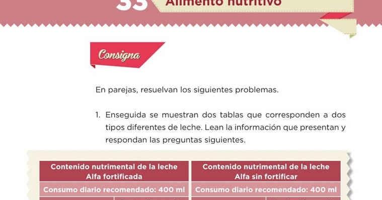 Página 3 De 5: Alimento Nutritivo -Desafío 33- Desafíos Matemáticos Sexto
