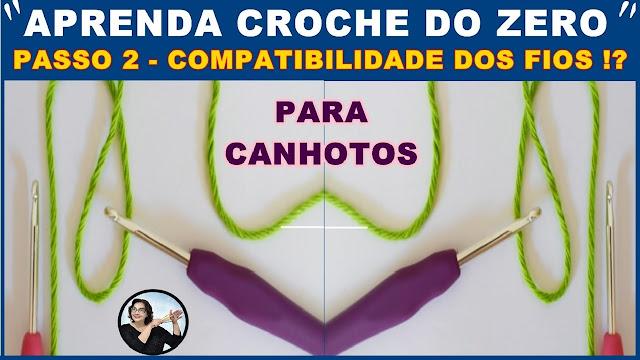 COMPATIBILIDADE FIOS E AGULHAS DE CROCHE CURSO EDINIR CROCHE PINTEREST YOUTUBE FACEBOOK INSTAGRAM