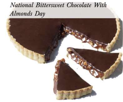 National Bittersweet Chocolate with Almonds Day Wishes Images download
