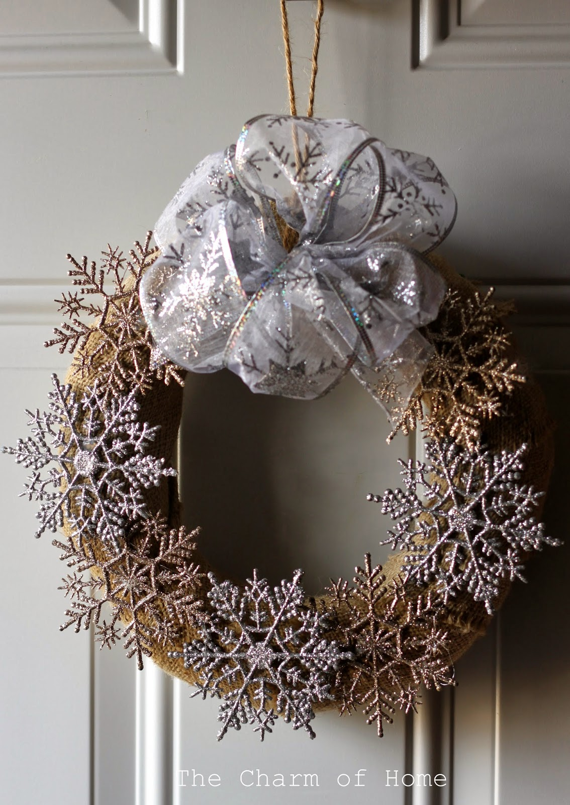The Charm of Home: Snowflake Wreath