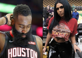 Olla Naber picture attached with ex-boyfriend James Harden