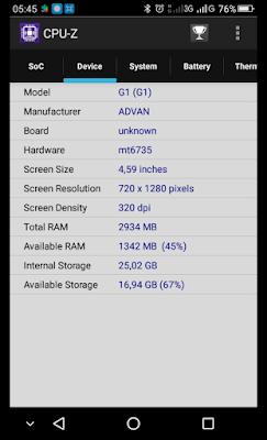 Melihat Spesifikasi Device Smartphone Menggunakan CPU-Z