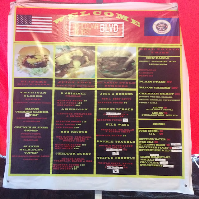 Cheddar Burst Blvd menu