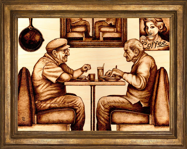 Image of two old men in a diner.
