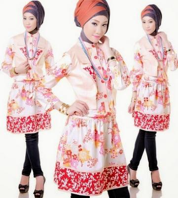 Dress muslim motif batik untuk remaja masa kini