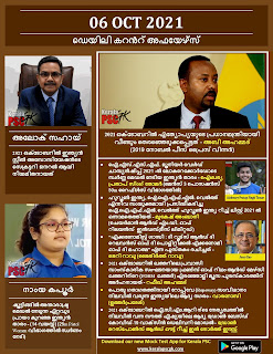 Daily Malayalam Current Affairs 06 Oct 2021