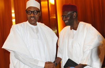 Image result for images of Abba Kyari and Buhari