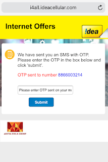Idea Free Data Offer- Get Free Idea 1GB 4G Data per Day for 30 Days