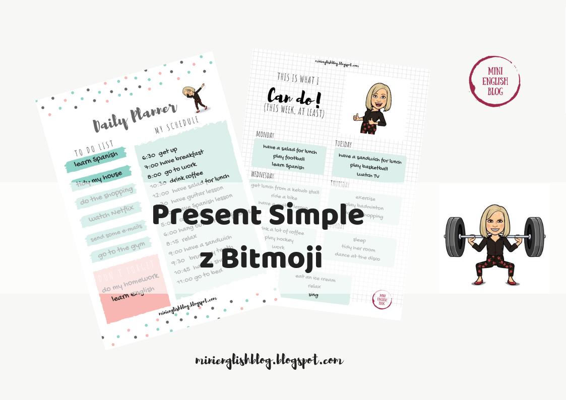 Present Simple z Bitmoji