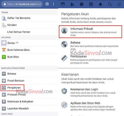 Menghapus Akun Facebook Sementara Melalui HP