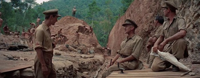 British officers in the film The Bridge on the River Kwai