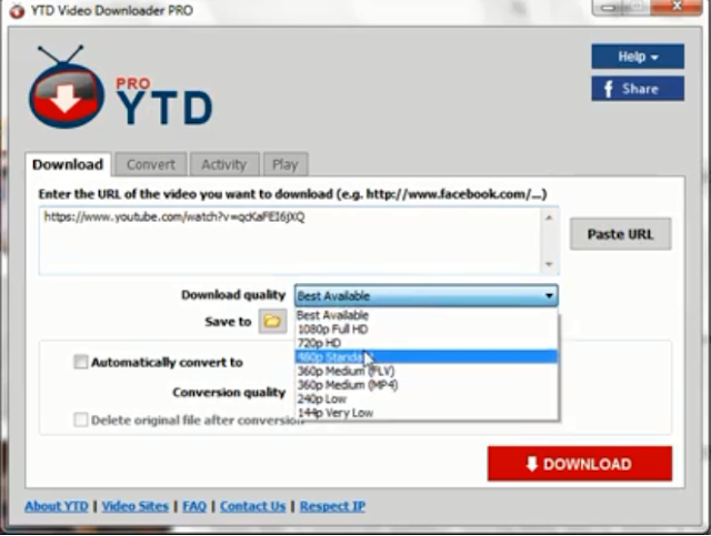برنامج YTD Video Downloader