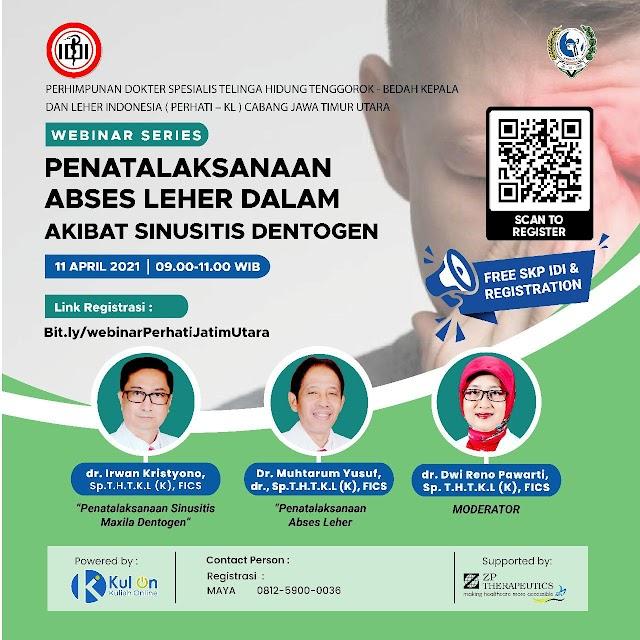 (GRATIS SKP IDI) Penatalaksanaan Abses Leher Dalam Akibat Sinusitis Dentogen