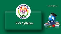 NVS Syllabus