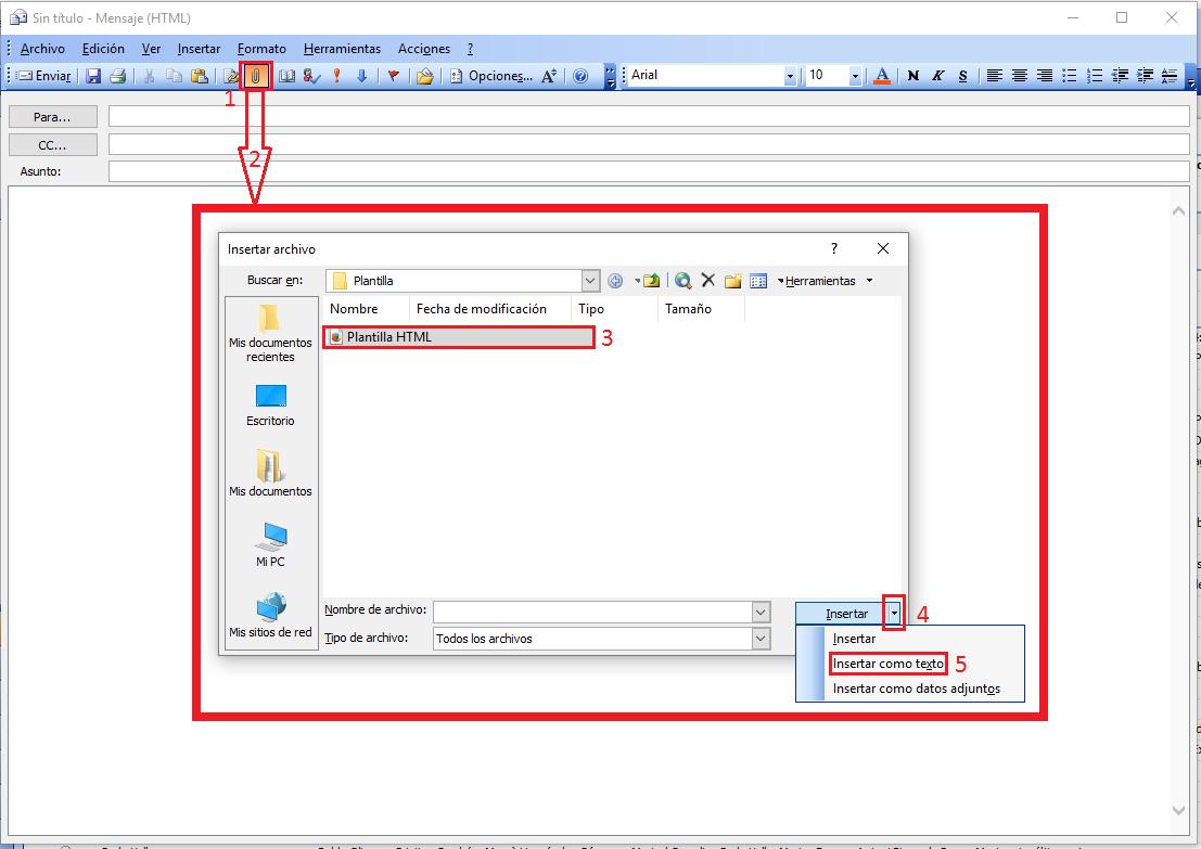 Pantallazos.es: Outlook 2003/2013: Diseñar correos electrónicos ...