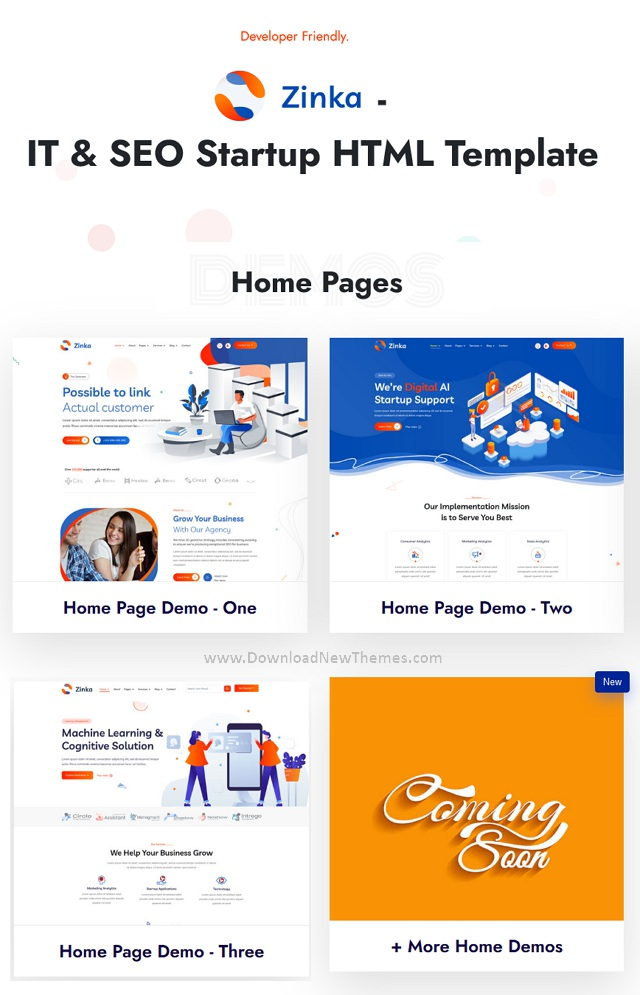 IT & SEO Startup Website Template
