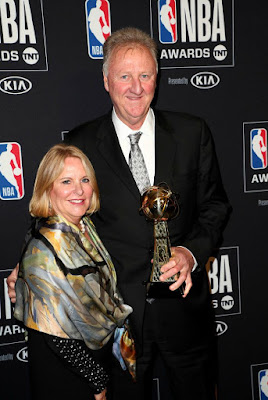 Dinah Mattingly with her husband Larry posing for a photo after receiving an award