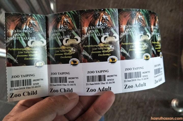 Harga Tiket Zoo Taiping Terkini 2018