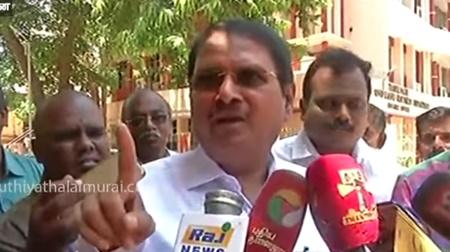 Former TN chief secretary Rama Mohana Rao addressing reporters | #chiefsecretary #RamaMohanaRao