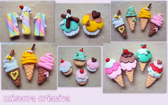 mainan clay ice cream