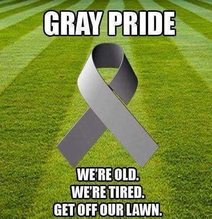 Gray Pride - We're old. We're tired. Get off our lawn.