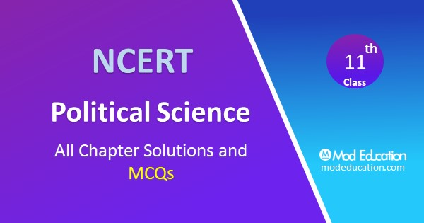 MCQ Questions for Class 11 Political Science with Answers Chapter