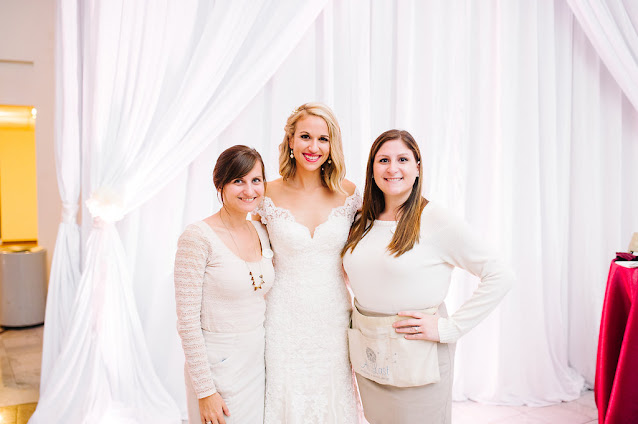 bride with At Last Wedding Coordination and Design team