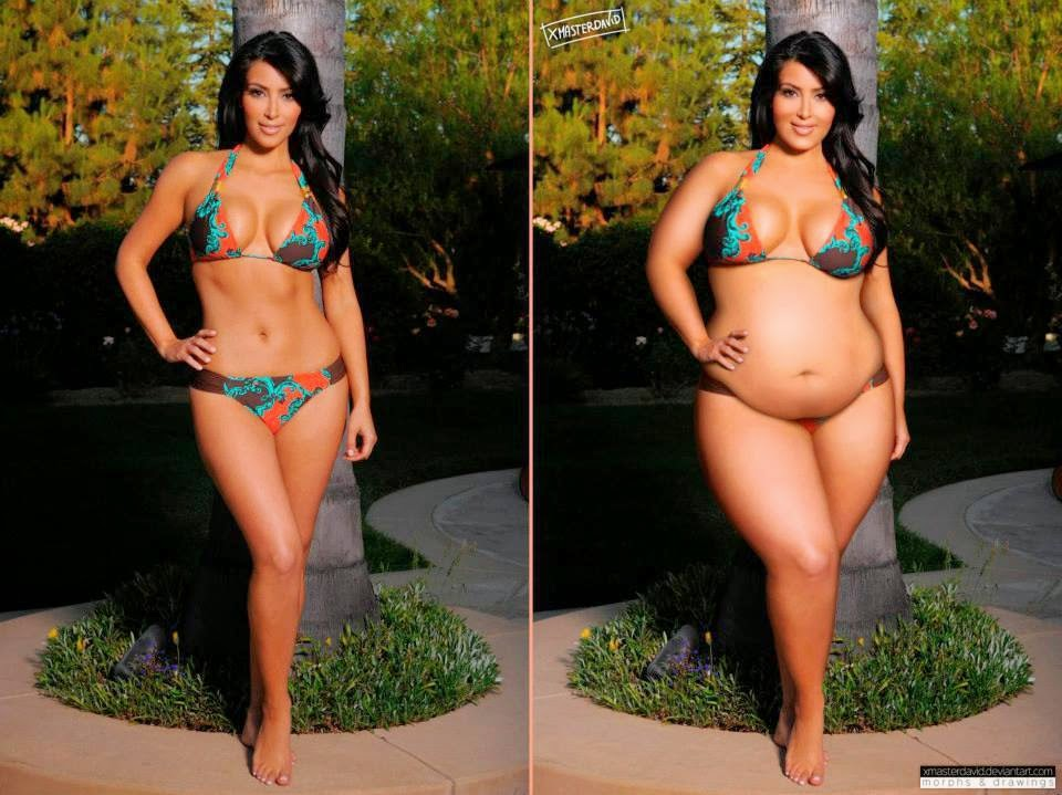 Kim Kardashian fotomontaje gorda