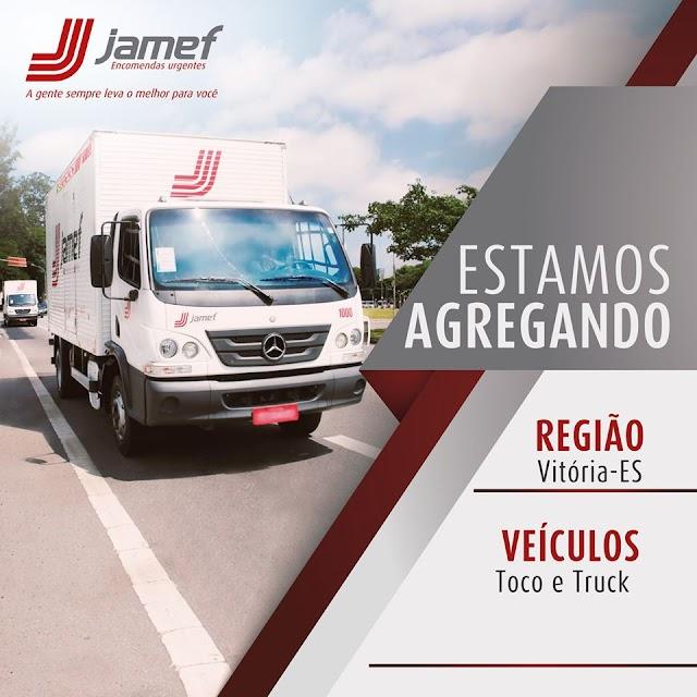 Jamef abre vagas para agregamento de caminhão Toco e Truck