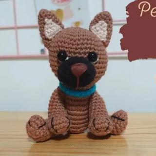 Amigurumi Perro Pastor Alemán a Crochet