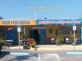 The front entrance to the Olde Fish House Marina restaurant in Matlacha, Florida