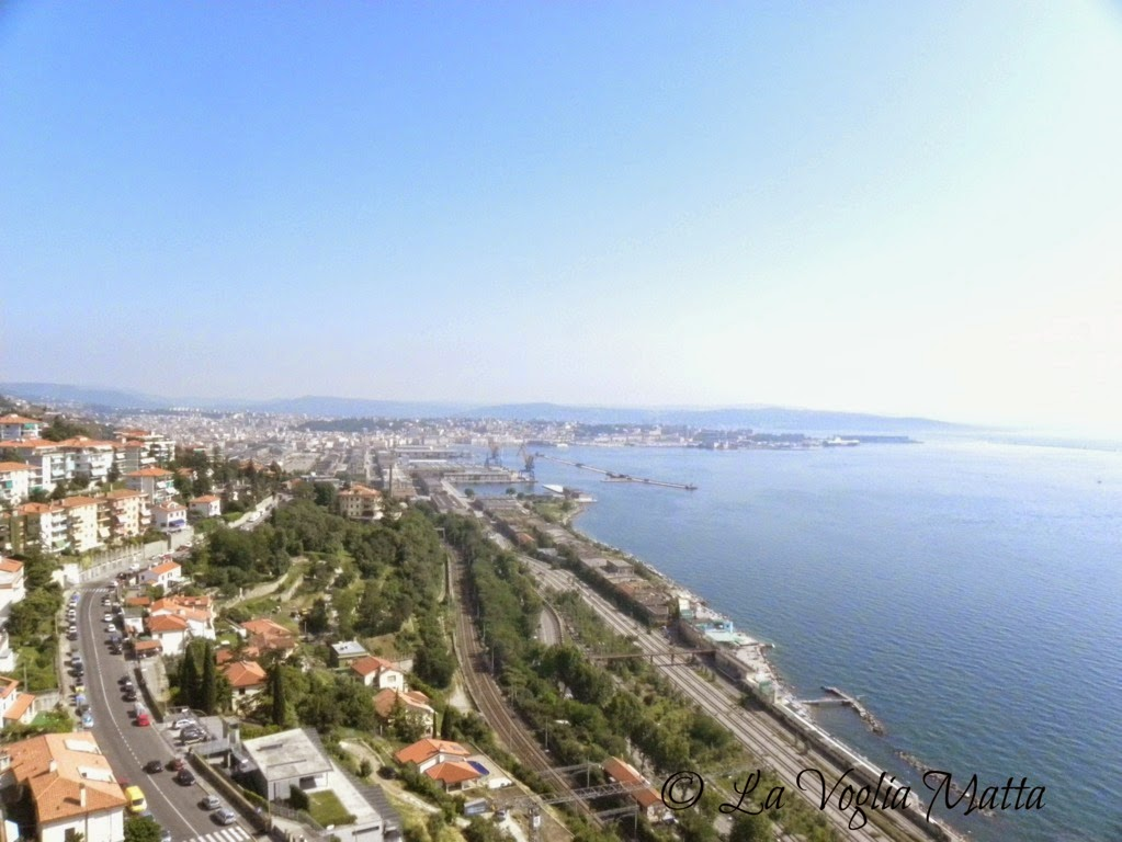 Faro della Vittoria a Trieste panorama