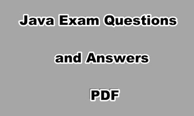 Java Exam Questions and Answers PDF
