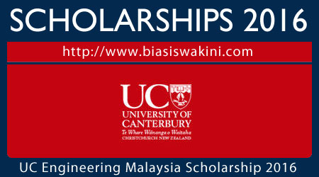 UC College of Engineering Malaysia Scholarship 2016