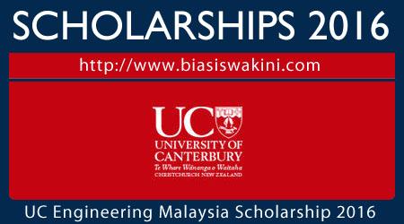 UC College of Engineering Malaysia Scholarship 2016