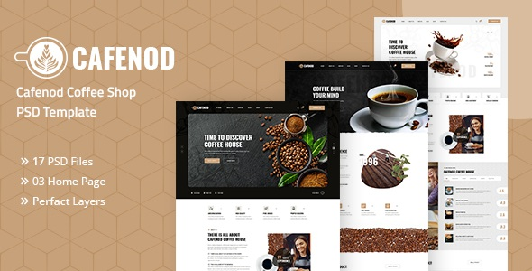Best Coffee Shop PSD Template